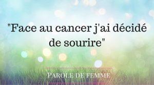 témoignage femme cancer